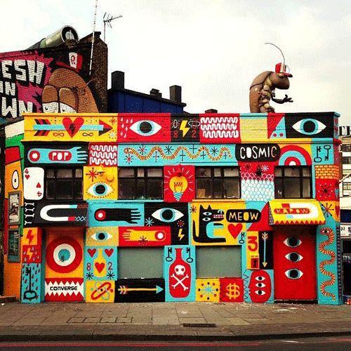 Brazilian artist Cranio created this mural in Barcelona with local artist PEZ