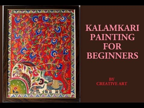 Kalamkari Painting Youtube In 2020 Painting Art