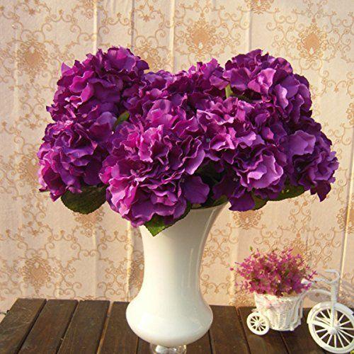Soledi Artificial Silk Fake 5 Heads Flower Bunch Bouquet Home Hotel Wedding Party Garden Floral Decor Hydrangea -- Purple, http://www.amazon.com/dp/B00MQOUY8G/ref=cm_sw_r_pi_awdm_lMOcxb1380GX5