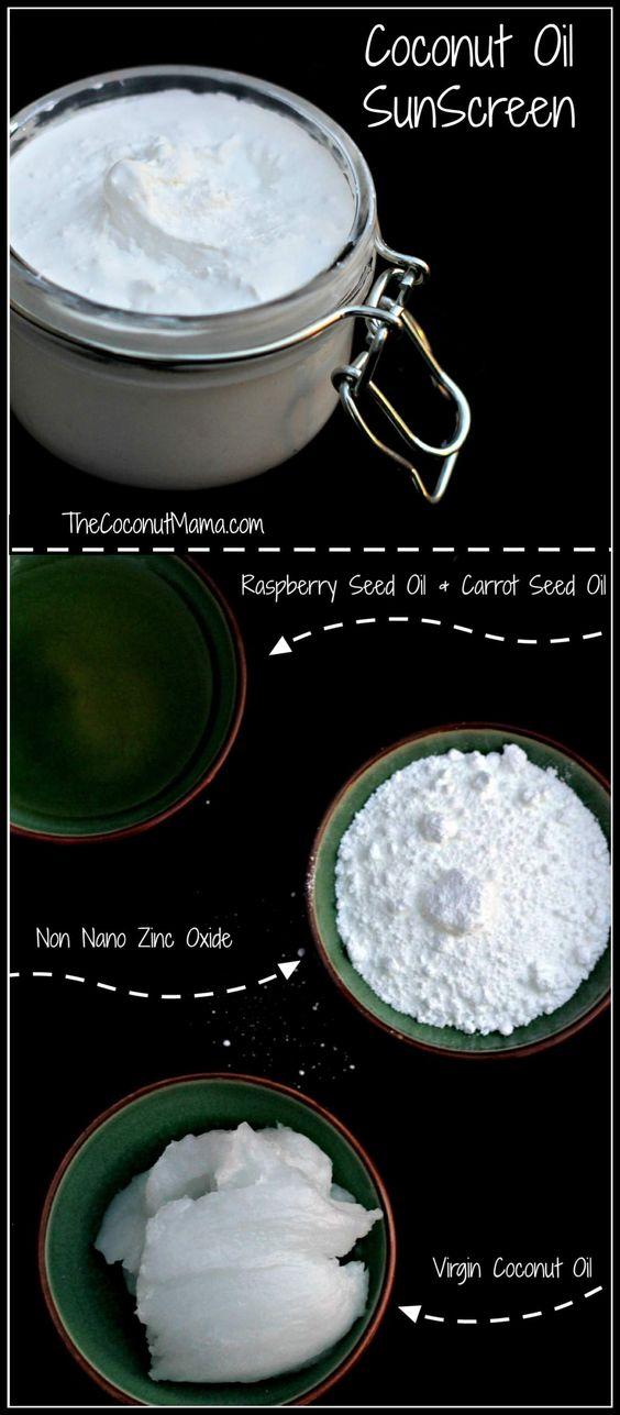 Coconut Oil Sunscreen - Easy 3 Ingredient Recipe!