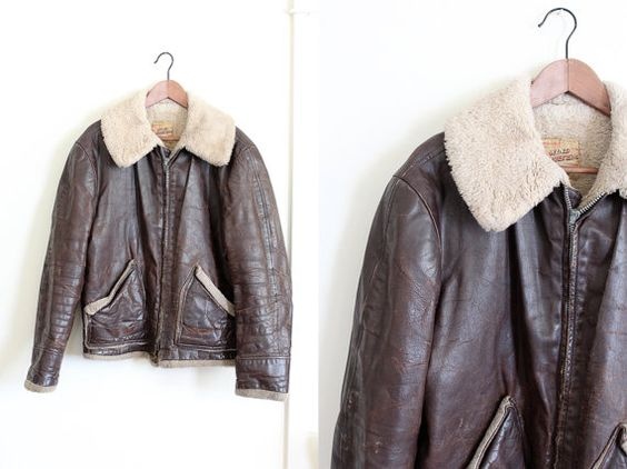 vintage 1950s bomber jacket // mens 50s leather by FoxAndSeagull ...