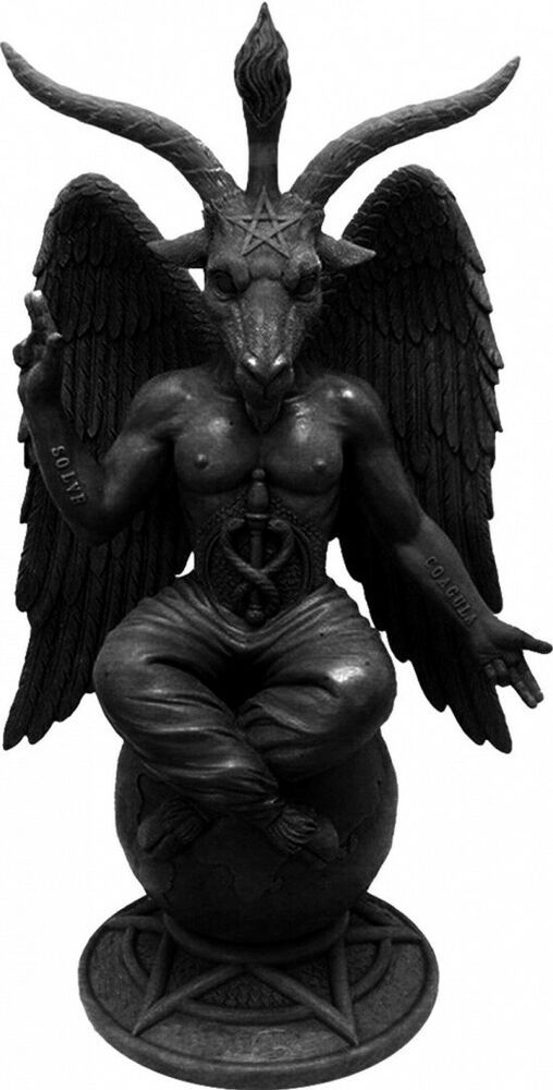 /'Baphomet/'  Goat of Mendes Pentagram Door Knocker Occult Wall Decor