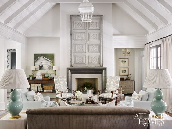 Living room in 2015 Serenbe showhouse by Lauren DeLoach