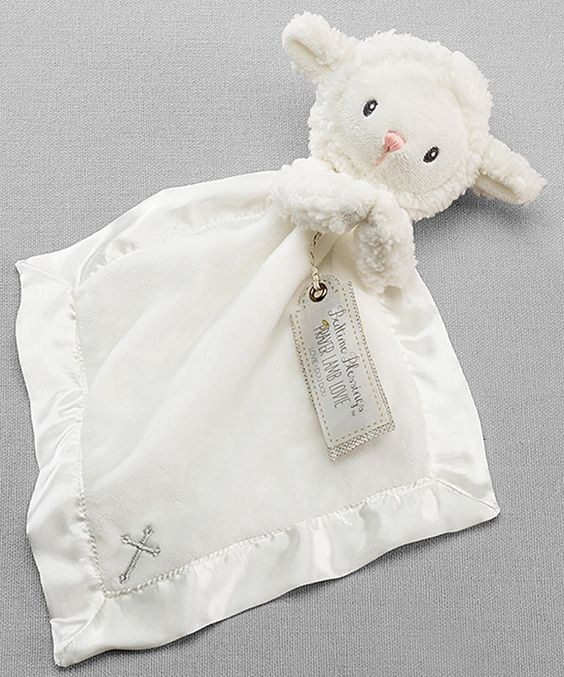 Baby Aspen 15'' Bedtime Blessings Lamb Plush Lovey Blanket by Baby Aspen #zulily #zulilyfinds