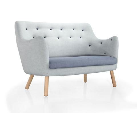 Buy Button Tufting Wood Legged Loveseat For Small Living Spaces   212Concept