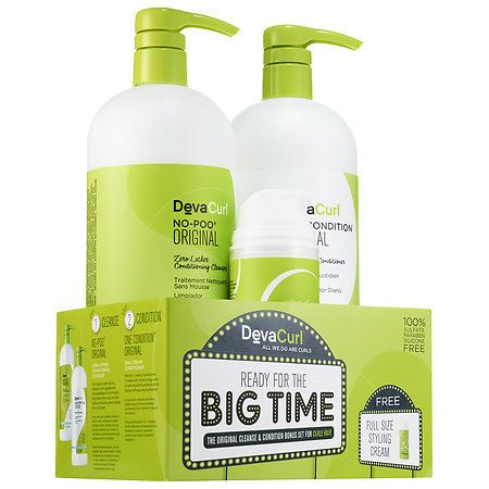 DevaCurl - Ready for the Big Time The Original Cleanse & Condition Bonus Set for Curly Hair #sephora