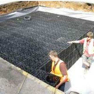 Modular underground water storage tanks: