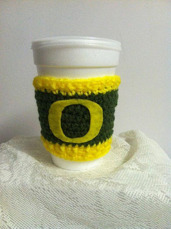 Oregon Ducks Coffee Cozy by DebraDoodles on Etsy