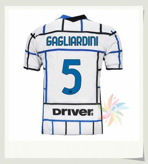 Seconda Maglia GAGLIARDINI 5 Inter Milan 2020 2021 Bianca | Inter ...