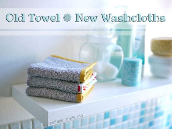Washcloths from old towels