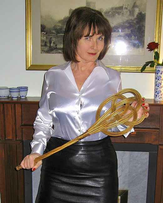 Mature Old Buisness Women In Satin Blouse 83
