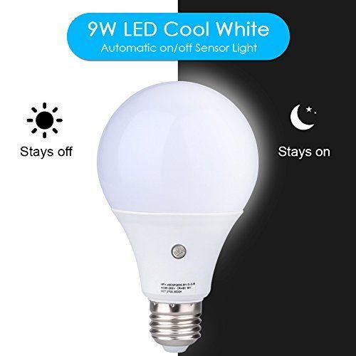 Led Light Bulbs Dusk To Dawn Sensor Lights Bulb Smart Lighting Lamp 12w 1200lm E26 E27 Socket 3200k Auto On Off Indoor Outdoor Security Light For Porch Garage With Images Led Light Bulbs