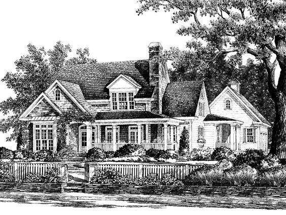 Farmhouse House Plan With 3257 Square Feet And 4 Bedrooms
