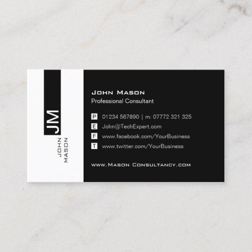 Modern Black And White Social Media Business Card Zazzle Com In 2021 Social Media Business Cards Media Business Cards Social Media Business