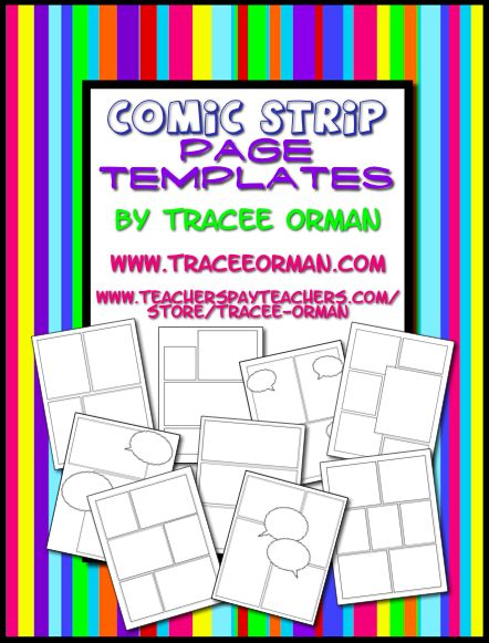 Classroom Freebies: End the Year with a Fun Project, Like Designing a Comic!  Great for Onomatopoeia