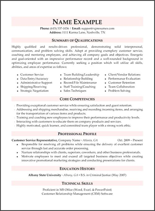 Resume Example Cv Example Professional And Creative Resume Design Cover Letter Fo In 2020 Resume Examples Customer Service Resume Examples Customer Service Resume
