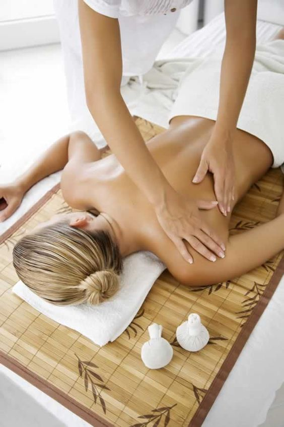 I Enjoy an aromatherapy massage on the back and shoulders and feel so relaxed afterwards: