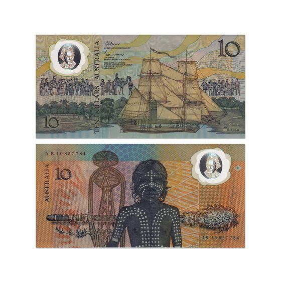 Australian ten-dollar commemorative note _ Design Harry Williamson