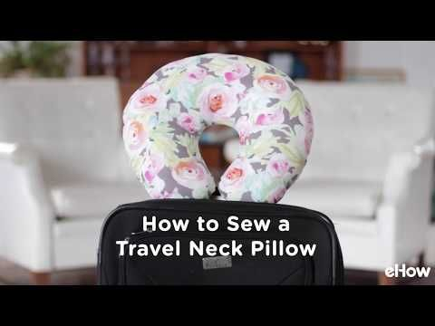 When Sleeping Upright Is Your Only Option This Soft And Comfortable Diy Neck Pillow Will Help You Ge Neck Pillow Diy Neck Pillow Travel Travel Neck Pillow Diy