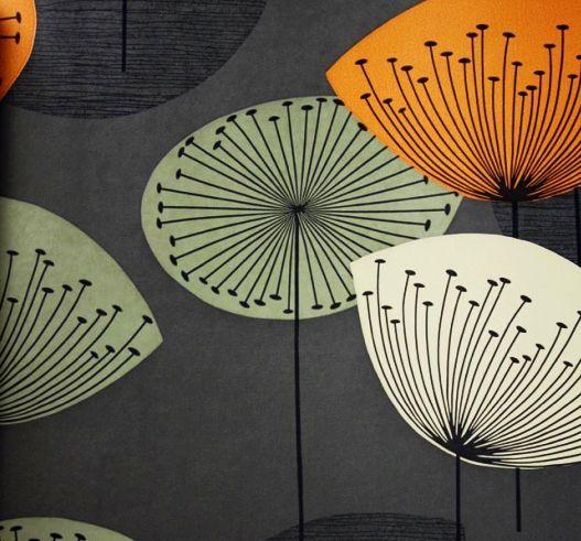 Dandelions Wallpaper | Mid Century Modern