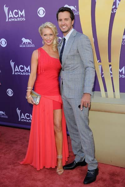 Luke Bryan And His Wife On The Red Carpet
