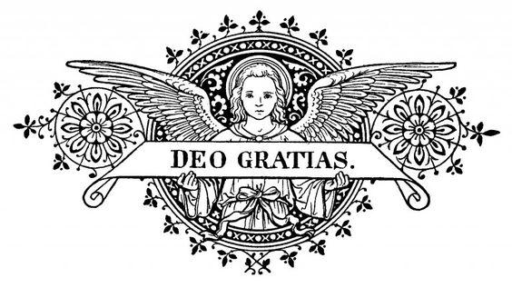 Grabados - gloria.tv  ~Deo Gratias / Grabado tomado de un misal del siglo XIX