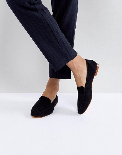 Office Flora Black Soft Leather Loafers