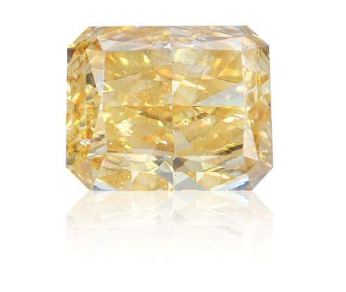 30 carat yellow diamond via Ritchies Auctioneers