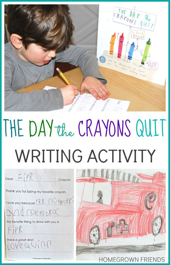 the day the crayons quit writing activity for 2nd