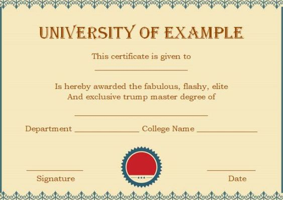 13 Best Masters Degree Certificate Template Images On Pinterest   Degree  Certificate Template  Degree Certificate Template
