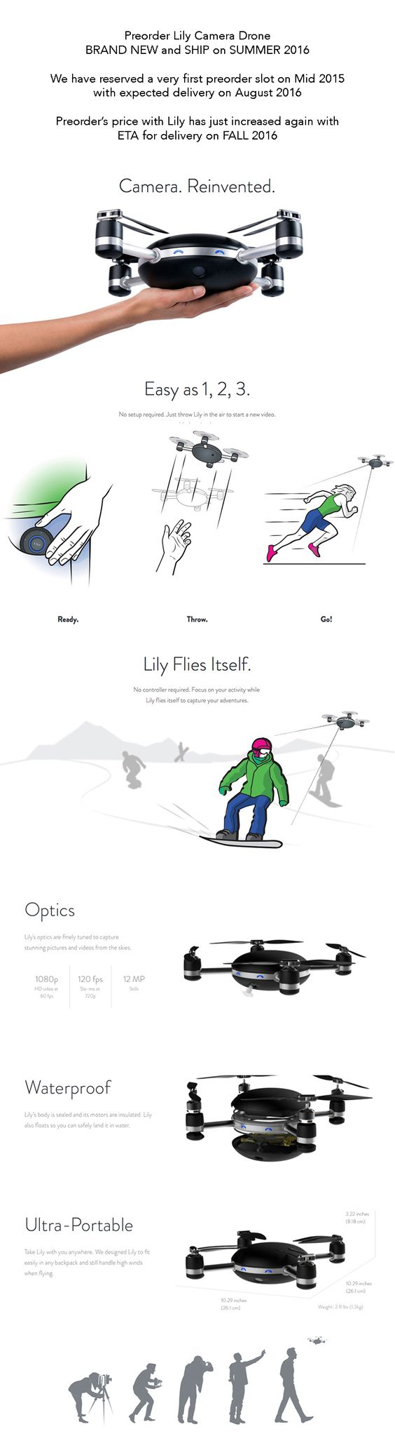 Check out robotic videographer Lily Drone: http://www.jedidrone.com/lily.htm