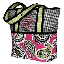 Hoohobbers Pink Whimsy Tote Diaper Bag