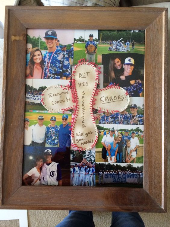 A Great Gift For Baseball Player Its Fun To Look At Custom Framed Photos In Different Angle