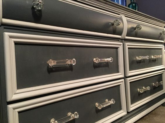 New hardware and paint for a 20 year old dresser