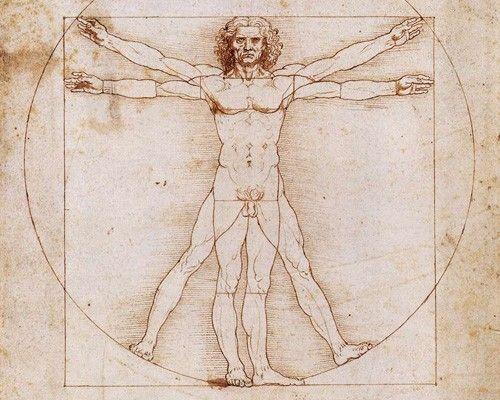 Leonardo da Vinci's Vetruvian Man Ways to be healthy!!