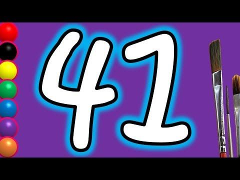 Learn Colors With Drawing Colours For Kids Children How To Draw Numbers 41 Painting Videos Youtube Coloring For Kids Learning Colors Painting Videos