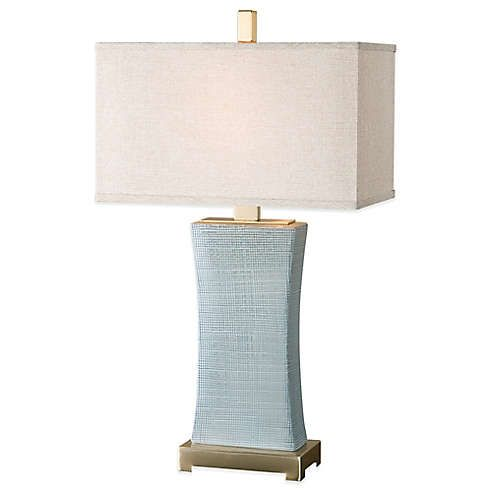 Lamps Floor Table Lamps Bed Bath Beyond In 2020 Grey Table Lamps Blue Table Lamp Table Lamp