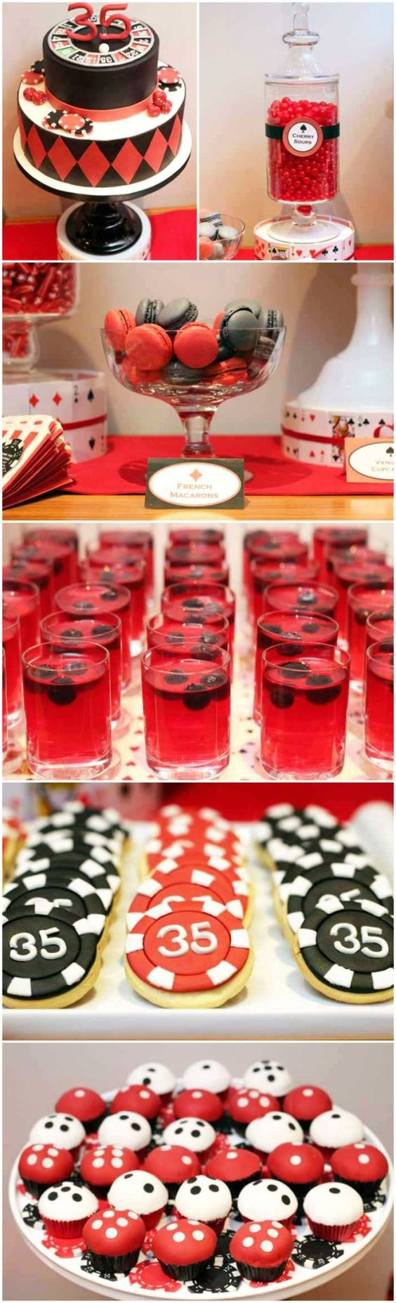 Poker themed party drinks
