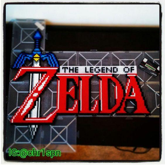 The Legend of Zelda title perler beads by chr1spn