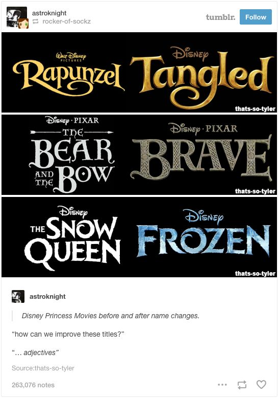 When they wanted to hold title designers to account. | 22 Tumblr Posts That Prove Disney Has The Funniest Fans