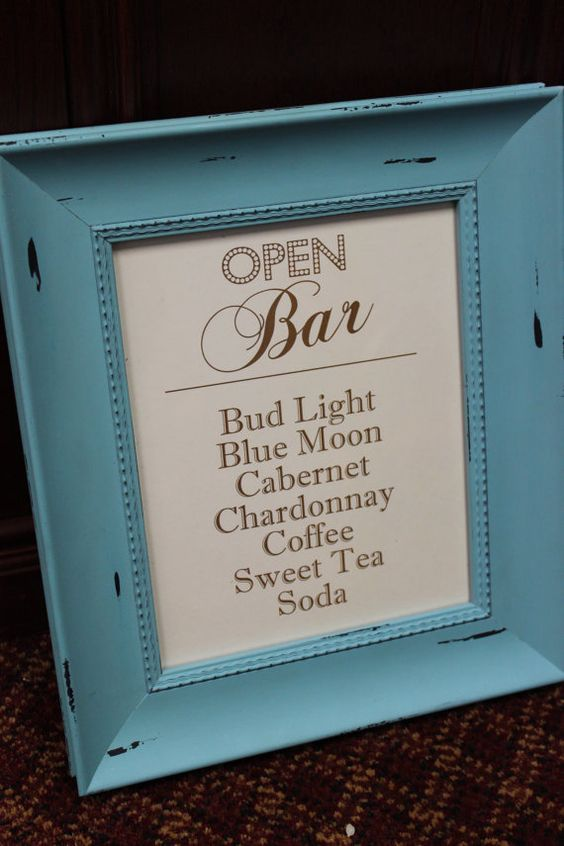 made to order open bar cash bar signs custom bar signs custom wedding bar