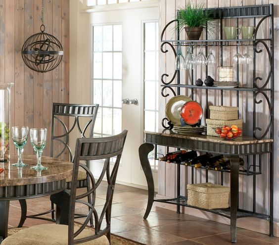 elegant decorative designer bakers racks furniture