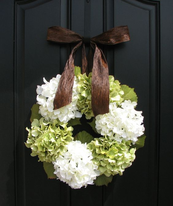 wreath. // Hydrangeas in Summer Hydrangea Wreaths Floral by twoinspireyou