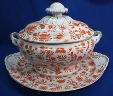 MOTTAHEDEH SACRED BUTTERFLY SOUP TUREEN & UNDERPLATE  FOR HISTORIC CHARLESTON