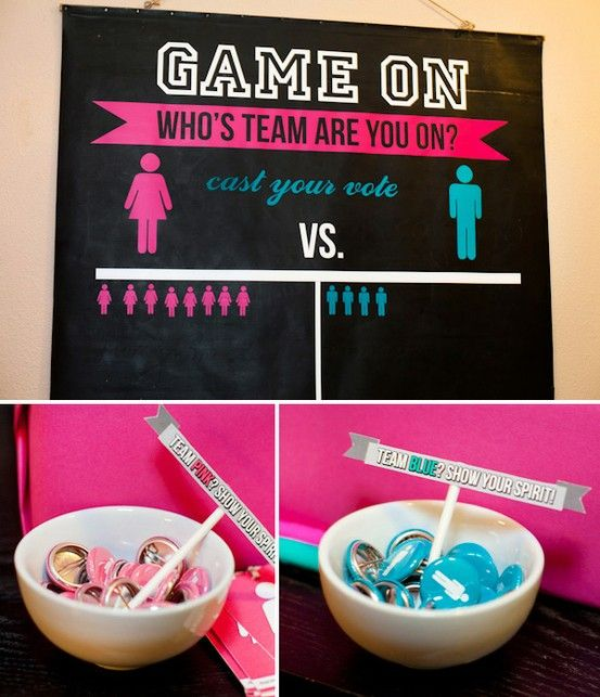 Gender Reveal Party Ideas - This looks like a neat way to reveal the gender. I love the cake idea too...baking your cake blue or pink for your guests to see.
