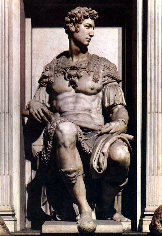 estatua funeraria (idealizado) de Giuliano de Médicis, duque de Nemours…