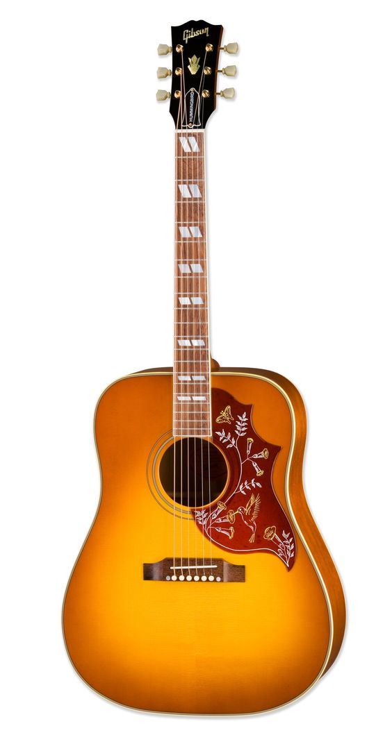 The Gibson Hummingbird - All of our guitar heroes have played one at some point. What a beautiful design for an acoustic! And what beautiful tone to boot!
