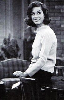 Mary Tyler Moore in her role as Laura Petrie. My grandmother looked just like Mary when she was young and even had her high school friends tell her so!