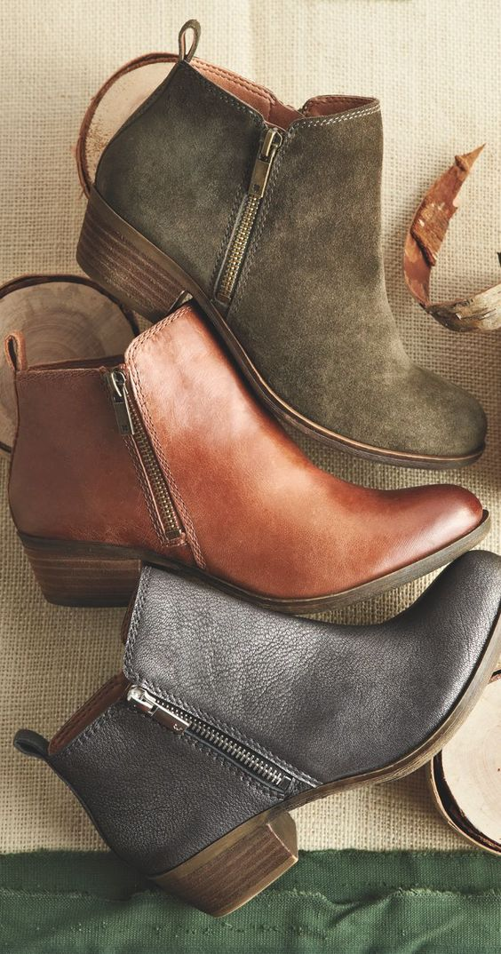 Lucky women's basel boot: stylish and comfortable, low-profile leather boots. Perfect for city trips and fall/winter travel packing lists! | hookedupshapewear.com