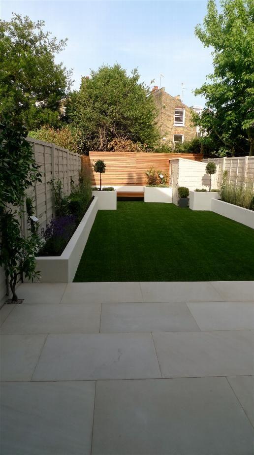 Garden Design New Build House terrace garden layout - http://www.interior-design-mag/home